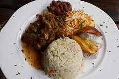 Curry Chicken (lulun & kame) Tags: america dominica soufriere caribbeanfood lumixg20f17 americasfood
