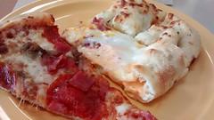 Meat Lovers Slice, Stuffed Crust Bacon And Bread. (dccradio) Tags: nc sausage northcarolina ham pizza buffet breadsticks lumberton canadianbacon buffetplate cicispizza stuffedcrust robesoncounty