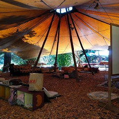 #skylodge #outdoorclassroom #firering #Permaculture (Heath & the B.L.T. boys) Tags: instagram farm permaculture tent