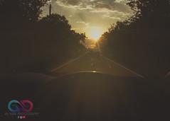 Sunset Avenue (JayKirkPhotography) Tags: sunset nottingham nottinghamshire jaykirkphotography canon 70d attenborough photoshop cs6 matte outdoors landscape sunrays