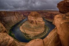Storm over the famous Horseshoe Bend (RigieNL) Tags: horseshoebend horseshoe page arizona usa america ngc hdr