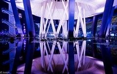 Mirror image (josephteh) Tags: pond longexposure reflection marinabaysands night singapore sony