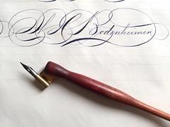IMG_4495 (xelo garrigs) Tags: caligrafa calligrafia calligraphy pointedpen spencerian penmanship ornamentalscript
