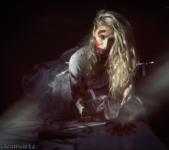 Bad blood - DSC7853 Contaminated theme (cleansurf2 - Portrait portfolio) Tags: cosplay costume colour color character cinematography costuming crazy cinematic sony ilce ilce7m2 a7ii a6000 contaminated theme theater zombie blond girl woman beautiful beauty blood white dress dark darkness modelmayhem model mayhem3763448 portrait people pretty performer photography outfit underworld urban young roleplay emount edgy evil weird australian a7 sexy scary strange drama disturbed deadly demented female freaky figure fun grime gritty girls hd kirstygodbee mirrorless mayhem movie naughty vengence contrast shadow exposure axe magnificentportraits darkdeviations