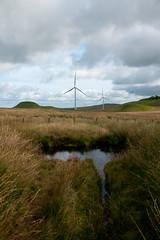 Pond (TroonTommy) Tags: farm landscape moorland renewable scotland turbines wind whitelee pond glasgow energy