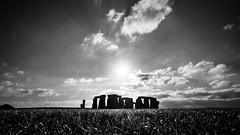 Stonehenge - Wiltshire, England - Travel photography (Giuseppe Milo (www.pixael.com)) Tags: grass natural calm print nature ultrawide background contrast mysterious monochrome photography bw sky horizontal photo white fineart stone tranquil prints landscape sunset landmark old european outdoors country outdoor landscapes countryside field clouds outside sun europe photograph black beautiful travel cloud peaceful rocks blackandwhite park wallart depth mountain onsale
