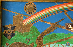 LLandeloy, Pembrokeshire (Vitrearum (Allan Barton)) Tags: llandely pembrokeshire church artsandcraftsmovement jcoatescarter reredos painted rainbow