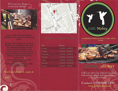 Menu (Sep 2016) from Little Mobay, Croydon, London CR0 (Kake .) Tags: menu croydon london cr0