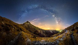 Vía Láctea sobre el Arenal