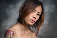 Ann Savage (karlhans) Tags: portrait hot beauty tattoo female model soft artist smoke philippines cebu ann pinay filipina tough savage