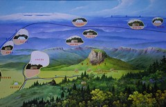 Hand painted map (Frühtau) Tags: camp people painting asian san asia mt hand forrest map secret traditional side country north culture scene korea made area tradition dprk nordkorea paektou