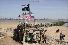 New Brighton Wallasey Wirral Pirates At Art 220415 (31) (Liz Callan 6 million views) Tags: new sea people lighthouse liverpool boats sand rocks brighton ships anchor seashore wallasey wirral newbrighton irishsea rivermersey fortperch perchlighthouse lizcallan lizcallanphotography
