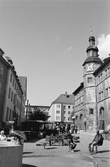 markt, nordhausen, 2015 (n0core) Tags: analog canon thringen f1 thuringia ddr expired markt rathaus nordhausen gdr orwo ndh np15
