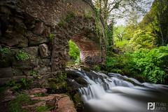 Lovers' Bridge, Dunster Castle - Explored 10/05/2015 #159 (philrdjones) Tags: longexposure castle water river landscape waterfall may nd nationaltrust dunster loversbridge 2015 neutraldensity
