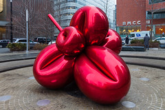 Balloon Flower (justingreen19) Tags: nyc newyorkcity red urban sculpture streetart ny newyork abstract reflection art rain metal reflecting stainlesssteel manhattan metallic abstractart worldtradecenter streetphotography urbanart financialdistrict publicart communitycollege lowermanhattan koons jeffkoons balloonflower cuny urbanabstract bmcc 7worldtradecenter newyorkrain metallicred justingreen19 justingreenphotography cityuniversitynewyork jeffkoonsnewyork