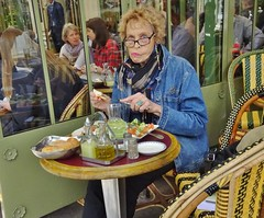 2015-05-30  Paris - Caf Le Rostand (P.K. - Paris) Tags: street people paris caf french terrace candid may terrasse sidewalk mai 2015