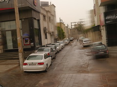 Shiraz Day 1 (Mink) Tags: street city trees man cars rain architecture buildings iran machine bank security airconditioner cameras bmw shiraz atm