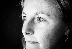 Marleen ZW (v_rijswijk) Tags: lighting ladies girls portrait people blackandwhite woman black girl monochrome lady lights model eyes women shine background surreal indoor human bnw sideways enprofil bnwcaptures