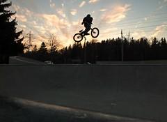 BMX Sunset (Braden Bygrave) Tags: sunset summer bike sport bmx warm action finepix fujifilm hs25exr