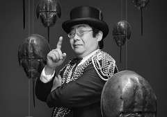 "Dr. Takeshi Yamada, the Immortalizer of the AMC cable television's competitive fine art reality show ""Immortalized"", new unscripted original series, Premieres February 14, 2013. (Black and White photiograph version), Copyright  2010-2013 A (searabbits23) Tags: ny newyork sexy celebrity rabbit art hat fashion animal brooklyn asian coneyisland japanese star tv google king artist dragon god manhattan famous gothic goth uma ufo pop taxidermy vogue cnn tuxedo bikini tophat unitednations playboy entertainer oddities genius donaldtrump mermaid amc mardigras salvadordali performer unicorn billclinton seamonster billgates aol vangogh curiosities sideshow jeffkoons globalwarming mart magician takashimurakami pablopicasso steampunk damienhirst cryptozoology freakshow realityshow seara immortalized takeshiyamada roguetaxidermy searabbit barrackobama ladygaga climategate  manwithrabbit"