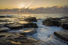Narrabeen Zig Zag (dave.gti) Tags: seascape nature sunrise landscape rocks sydney nsw select narrabeen ocea oceanscape