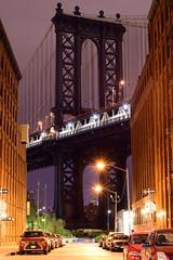 DUMBO (carloromeros10) Tags: park longexposure bridge brooklyn night long exposure slow manhattan dumbo nighttime slowshutter shutter manhattanbridge empirestatebuilding empirestate