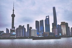 Shanghai (VERY GIORGIOUS) Tags: china skyline buildings view shanghai retro