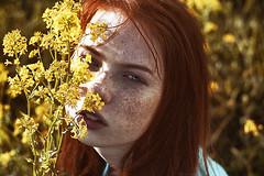 Alla (alexandra_bochkareva) Tags: red face female hair real fire skin russia head sensual redhead fairy serene freckles feelings helios freckled sense
