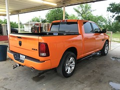 IMG_3694 (Smalltowntx87) Tags: orange sport cab wheels pickup automotive semi tires crew american dodge plus trucks washed hemi ram 1500 v8 detailed ignition iphone 2015 6s 57l