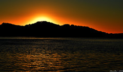 Sunrise at the Waterfront (Merrillie) Tags: sea sky mountains nature water sunrise dawn bay nikon scenery colours waterfront australia views nsw daybreak brisbanewater woywoy seaviews d5500 nswcentralcoast centralcoastnsw