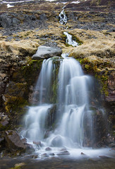 the never ending journey of water (lunaryuna) Tags: longexposure mountain nature water beauty season landscape waterfall iceland spring rocks le vegetation lunaryuna mosses westfjords meltwater thejourneyofwater seasonalwonders