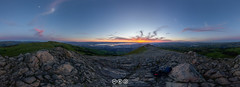 Mission Peak Sunset Panorama (au_ears) Tags: california bayarea 2016 mountain ohlonewilderness mtallison missionpeak summit sky eastbay polarizerno panorama sunset mtdiablo clouds