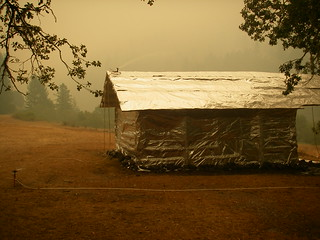 BLM firefighters save Zane Grey's historic cabin from wildfires along Oregon's Rogue River.