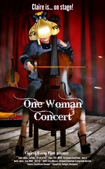 One Woman Concert - Movieposter (ClaireDiLuna) Tags: life woman film movie poster one concert stuttgart piano sl secondlife cello machinima second clockwork harp konzert anc marienplatz obscura harfe