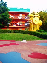 All star hotel (Elysia in Wonderland) Tags: world vacation music holiday yellow stairs hydrant fire star hotel orlando all florida disney resort 101 movies dalmatians 2011