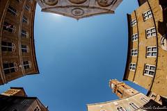 Piazza Pio II - Pienza (carbonelli93) Tags: fish eye val tuscany piazza pienza toscana dorcia orcia