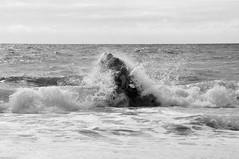 Brandung (rckem) Tags: blackandwhite strand boot meer wasser sommer dlrg sylt nordsee wellen schlauchboot westerland brandung