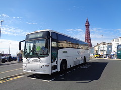 M900TMG Travel Master in Blackpool (j.a.sanderson) Tags: m900tmg travel master blackpool volvo b12m plaxton paragon registered new 2003 wk03ekw manchester travelmaster carrington coach coaches westernnational
