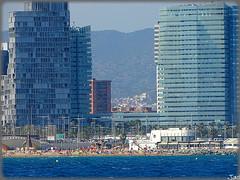 Barcelona (Spain) (sky_hlv) Tags: barcelona espaa building skyline skyscraper spain europa europe mediterraneo skyscrapers forum playa catalua rascacielos marmediterraneo