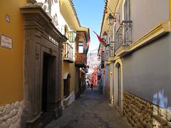 "La Paz: la calle Jaen, la rue coloniale <a style=""margin-left:10px; font-size:0.8em;"" href=""http://www.flickr.com/photos/127723101@N04/28602669725/"" target=""_blank"">@flickr</a>"