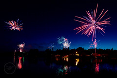 A Blacktail Dam 4th of July (breann.fischer) Tags: fireworks 4thofjuly independenceday blacktaildam northdakota nd2016contest greatplains reflection lake lights camping blacktail