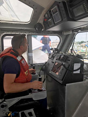 Sinking vessel off Virginia Beach (Coast Guard News) Tags: uscg coast guard d5 virginia virginiabeach littlecreek station smallboat dewater dewatering p6pump flooding sinking sidetow towing tow unitedstates us