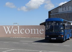 A BIG welcome (Coco the Jerzee Busman) Tags: tantivy blue coach bus tours jersey uk channel islands