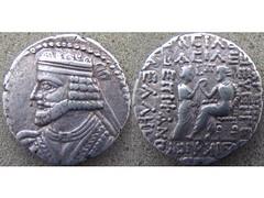 Vologases I (Baltimore Bob) Tags: coin money ancient silver tetradrachm parthia parthian persia persian arsacid arsakid vologases tyche