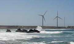 Power (Mac ind g) Tags: sea summer espaa holiday landscape spain wind fuerteventura canarias canaryislands windturbine corralejo