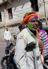 Holi Festival (cowyeow) Tags: street travel party portrait people india holiday man color men fashion festival fun funny colorful mess indian traditional faith religion culture powder messy tradition holi rajasthan udaipur holifestival funnyindia
