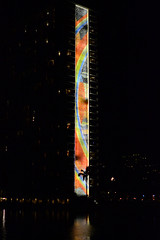 Rainbow Tower, across lagoon (Ian E. Abbott) Tags: rainbow mosaic beachresort hiltonhawaiianvillage rainbowtower rainbowmosaic dukekahanamokulagoon honoluluhotels waikikiresort oahuhotels waikikihotels hawaiianhotels
