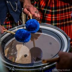 Pom Poms (FotoFling Scotland) Tags: kilt 2006 drumstick drummer tartan highlandgames pipeband crieffhighlandgathering