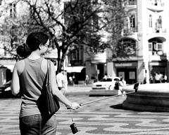 (mgkm photography) Tags: street urban blackandwhite bw blancoynegro tourism portugal monochrome 50mm calle bokeh lisboa lisbon streetphotography gimp streetphoto rua pretoebranco rossio streetshot urbanphotography travelphotography ƒ28 fotografiaurbana lisboanarua nikonphotography opensourcephotography ilustrarportugal bokehphotography europeanphotography bokehstreet