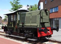 NS Diesellocomotive N 289 as a monument near the former GOLS-station in Winterswijk. (Franky De Witte - Ferroequinologist) Tags: de eisenbahn railway estrada chemin fer spoorwegen ferrocarril ferro ferrovia